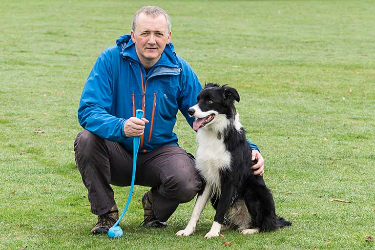 Northampton Dog Walker Gary Box and Archie