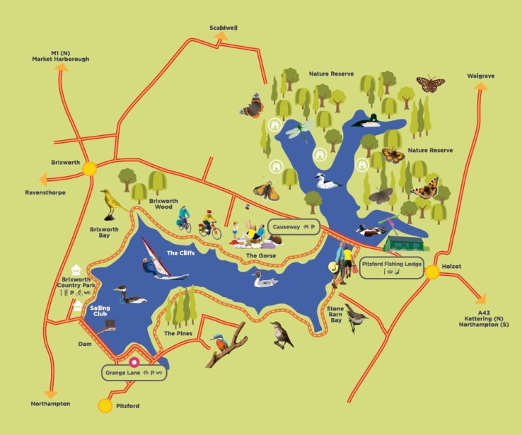 Pitsford Water Park Map