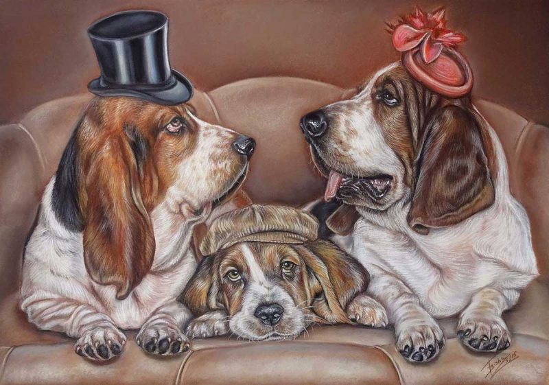 Dog Painter Basset Hounds