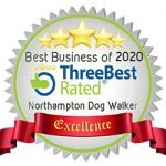 Northampton Dog Walker - Three Best Rated Badge 2020