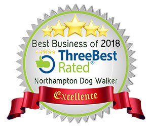 Northampton Dog Walker - Three Best Rated Badge 2018